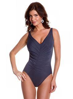 8a748ed3c0c00 Magicsuit Women's Magic Solids One Piece Wide Strap Tank Swimsuit at Amazon  Women's Clothing store: