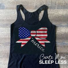 How adorable is this with some cute shorts! Check it out on Etsy here!  https://www.etsy.com/listing/281499452/america-flag-tank-top-american-flag-bow America Flag Tank Top. American Flag Bow. by CreateMoreSleepLess