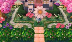 welcome to Rosewood Acnl Paths, Fun Drinking Games, Ac New Leaf, Animal Crossing Memes, Happy Home Designer, Kawaii, Animal Games, Garden Design, Daisy
