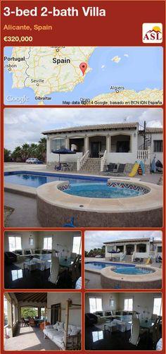 3-bed 2-bath Villa in Alicante, Spain ►€320,000 #PropertyForSaleInSpain