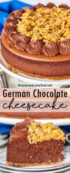 Chocolate Filling For Cake, German Chocolate Cheesecake, Coffee Cheesecake, Caramel Apple Cheesecake, Coconut Cheesecake, Best Cheesecake, Chocolate Flavors, Chocolate Buttercream, Homemade Cheesecake