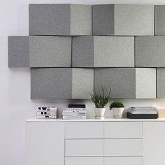 Triline fra Abstracta hjælper med at forbedre lydniveauet i virksomheden. Få bedre velvære på kontoret, i loungeområdet og mødelokalet med mindre støj.  #akustik #vægpaneler