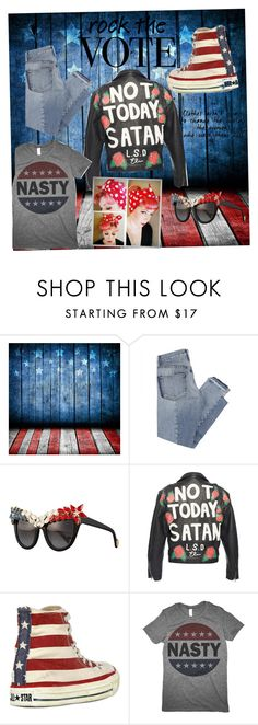 """""""Rocking the vote"""" by lobstermomma ❤ liked on Polyvore featuring Mix Nouveau, Anna-Karin Karlsson and Converse"""