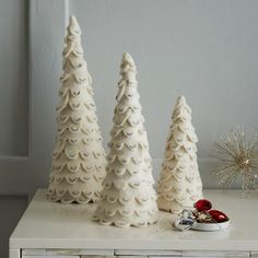 Felt Tree | West Elm --- BUT i'm sure i can find a way to make this myself. gimme felt and glue gun.. done!