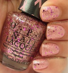 @OPI Nail You Glitter Be Good To Me over OPI I Think In Pink