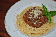 Spaghetti Bolognese is my family's favourite meal. Spaghetti Bolognese, Meal Recipes, Main Meals, Favorite Recipes, Ethnic Recipes, Food, Meals