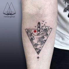 #tattoo #tattoostagram #dotwork #linework #ink #inked #artcollective #minimal #tattooersubmission #art #tattoooftheday #wowtattoo #customtattoo #tattooersgallery #tattooistartmag #skinartmag #thebesttattooartists #inklife #inkig #dövme #red #black #stars #sky #sun #nature #lighthouse #waves