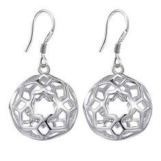 hollow flower high quality Silver Earrings for women fashion jewelry earrings /FOCENVNY DVIHCKSJ