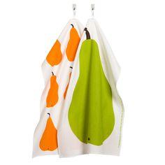 Marimekko Päärynä Pear Tea Towel Set - Modern Tea Towels & Dish Cloths