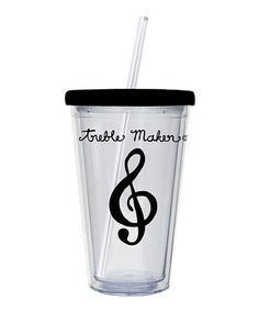 Black Treble Maker 17-Oz. Insulated Tumbler