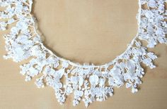White Cotton Little Flowers Lace Trim by LalaceSupplies