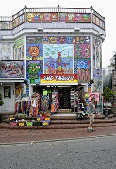 If you're ever in Provincetown, RI, you gotta stop by Shop Therapy for all their cool clothes, art, travel supplies, incense, candles, jewelry, hats, and lots of other fun stuff.  They are online, too, but it's just not the same.  I just love shops like this!