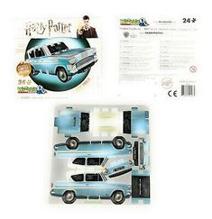 Harry Potter Ford Anglia 24 Pieces Puzzle Wrebbit Limited Edition New Harry Potter Car, Harry Potter Diagon Alley, Harry Potter Bedroom, Harry Potter Tattoos, Harry Potter Gifts, Paper Toys, Paper Crafts, Diy Paper, Paper Model Car