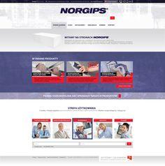 Norgips - projekt serwisu firmowego