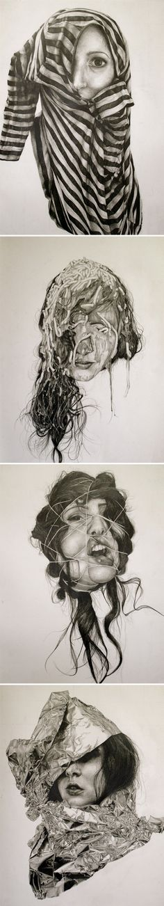 on paper series titled self-deception, by Gillian Lambert.These are killer!graphite on paper series titled self-deception, by Gillian Lambert.These are killer! Ap Studio Art, Art Inspo, Inspiration Art, Art And Illustration, Gillian Lambert, Graphite Drawings, Art Drawings, Studios D'art, Art Amour