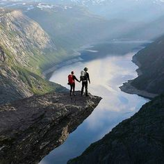 """@the_limitless_ones: Trolltunga (Norwegian) or """"Trolls Toung"""" is a cliff ledge  700m above the water below, making it a very photogenic place! #Greatesttravels #Norway"""