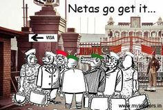 * This article is a fiction. In India there is Modi for the other netas there is Visa Power It's...