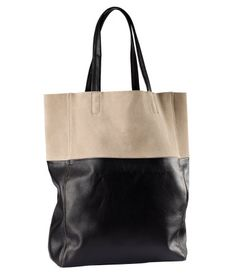 Love this clean color-block tote! $24.95 at H & M.