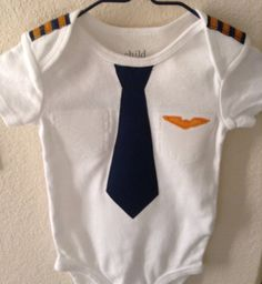 Baby Airline Pilot Outfit by EviesGift on Etsy, $20.00