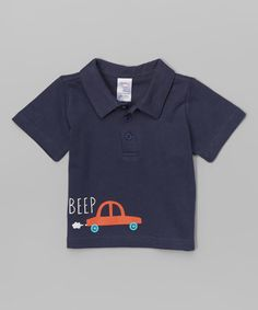 Look what I found on #zulily! Navy Beep Polo - Infant #zulilyfinds