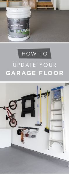 Update your garage floor in a few easy steps with this tutorial from Rachel, of Craving Some Creativity. Rachel coated the concrete flooring in her garage with BEHR Premium Granite Grip to give it a clean and durable, non-slip finish. Make your garage look brand new again and give your home a new sense of organization thanks to this easy tutorial.