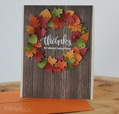 Nichol Spohr LLC: Simon Says Stamp November Card Kit | Thanks Fall Wreath Card + GIVEAWAY