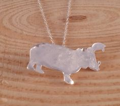 Sterling Silver Reticulated Hippo Necklace £10.00