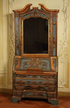 Writing cabinet | Christian Reinow 18th C| V Search the Collections