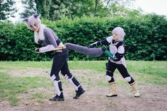 Bell Cranel and Bete Loga cosplay of Danmachi