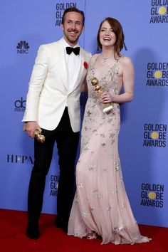 Ryan Gosling and Emma Stone lead La La Land to sweep at Golden Globes Emma Stone Style, Ryan Gosling Movies, Wedding Decor, Actress Emma Stone, Golden Globe Award, Emma Stone Golden Globes 2017, Fan Art, Cute Couples, Movies