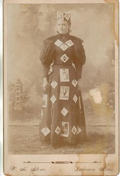 """Banner Woman"" Photographer's Advertising Cabinet Card"
