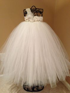 Ivory Flower Girl Tutu Dress. $65.00, via Etsy.