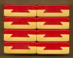 ROYAL - red dovetailed set.