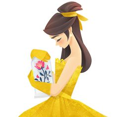 A Bela e a Fera (Artes) Beauty and the Beast (Art) Princesa Disney Bella, Disney Belle, Cute Disney, Disney Magic, Disney Pixar, Walt Disney, Disney Films, Disney And Dreamworks, Beauty And The Beast Art