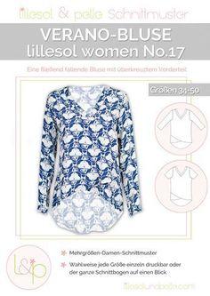 Ebook / Schnittmuster lillesol women No.17 Verano-Bluse