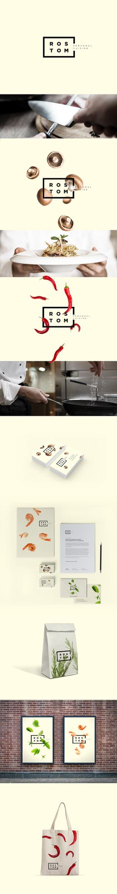 Rostom - Personal Cuisine on Behance by  Marcelo Nê love this packaging branding PD