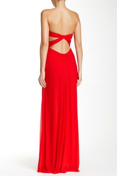 Twisted Strapless Gown by La Femme on @nordstrom_rack