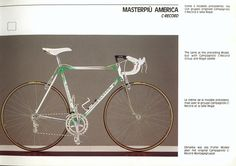 Colnago Master Piu America - Campagnolo C-Record Vintage Bike Parts, Road Bikes, Meme, America, Retro, Vintage Sport, Bicycles, Catalog, Awesome