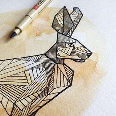 Geometric Hare by Allison Kunath | via Tumblr on We Heart It. http://weheartit.com/entry/66533700/via/surpriselilydesigns