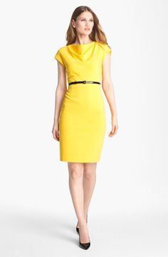 Classiques Entier® Italian Ponte Sheath Dress available at #Nordstrom  Sleeves just barely long enough.  Fabric has a great hand, the cut is very flattering.  I'm hoping they'll do this again with more colors--the red version and the solar yellow are just too strong for me.