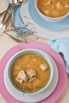 Sopa de pollo con almendras - Almond chicken soup