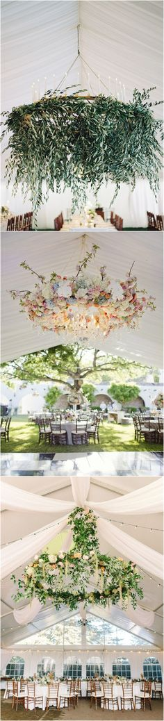 Wedding Ideas » 23 Stunning Wedding Flower Chandelier Ideas Wow Your Guests » ❤️ More: http://www.weddinginclude.com/2017/09/stunning-wedding-flower-chandelier-ideas-wow-your-guests/