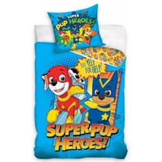 Ryder and his team of heroic dogs that help in every dangerous situation are here to lull your little one to sleep! Baby bedding with the heroes of children's series, Paw Patrol bedding made from cotton. Bed Covers, Duvet Cover Sets, Paw Patrol Bedding, Beds Uk, Single Duvet Cover, Kid Character, How To Make Bed, Pet Shop, Pup