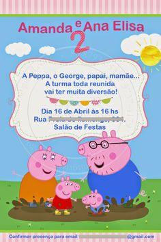 Espaço D... Personalizados: Convite Peppa Pig