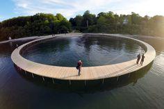 The Infinite Bridge is a sculpture by Danish architectural studio Gjøde & Povlsgaard Arkitekter.