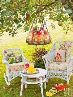 Wooden Garden, Wooden Diy, Garden Ideas Budget Backyard, Easy Garden, Patio Ideas, Backyard Landscaping, Bird Bath Garden, Garden Art, Backyard Shade