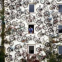 I am a huge fan of street art, they are creative, bold and express artists feelings perfectly. Check out this huge collection of street art from across the globe. Land Art, Pimp Your Bike, Art Environnemental, Jones Design Company, Street Art, Picture Arrangements, Bicycle Art, Bicycle Shop, Bike Shops