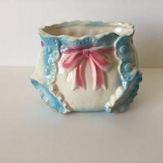 Vintage Nursery Diaper Planter Ceramic Baby by FindingYesterday