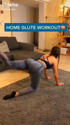 At Home Glute Workout, Full Body Gym Workout, Gym Workout Videos, Gym Workout For Beginners, Fitness Workout For Women, Butt Workout, Gym Workouts, At Home Workouts, Fitness Tips