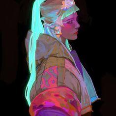 Art by Jelena Kevic Djurdjevic Character Illustration, Illustration Art, Illustrations, Art Sketches, Art Drawings, Personajes Monster High, Arte Cyberpunk, Wow Art, Character Design Inspiration